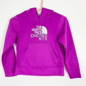 The North Face Purple Hooded Sweater Girl's Small